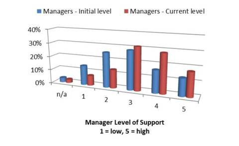 Manager Level of Support of 5S