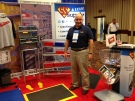 Tony manning the booth at the AME Conference Toronto 2013